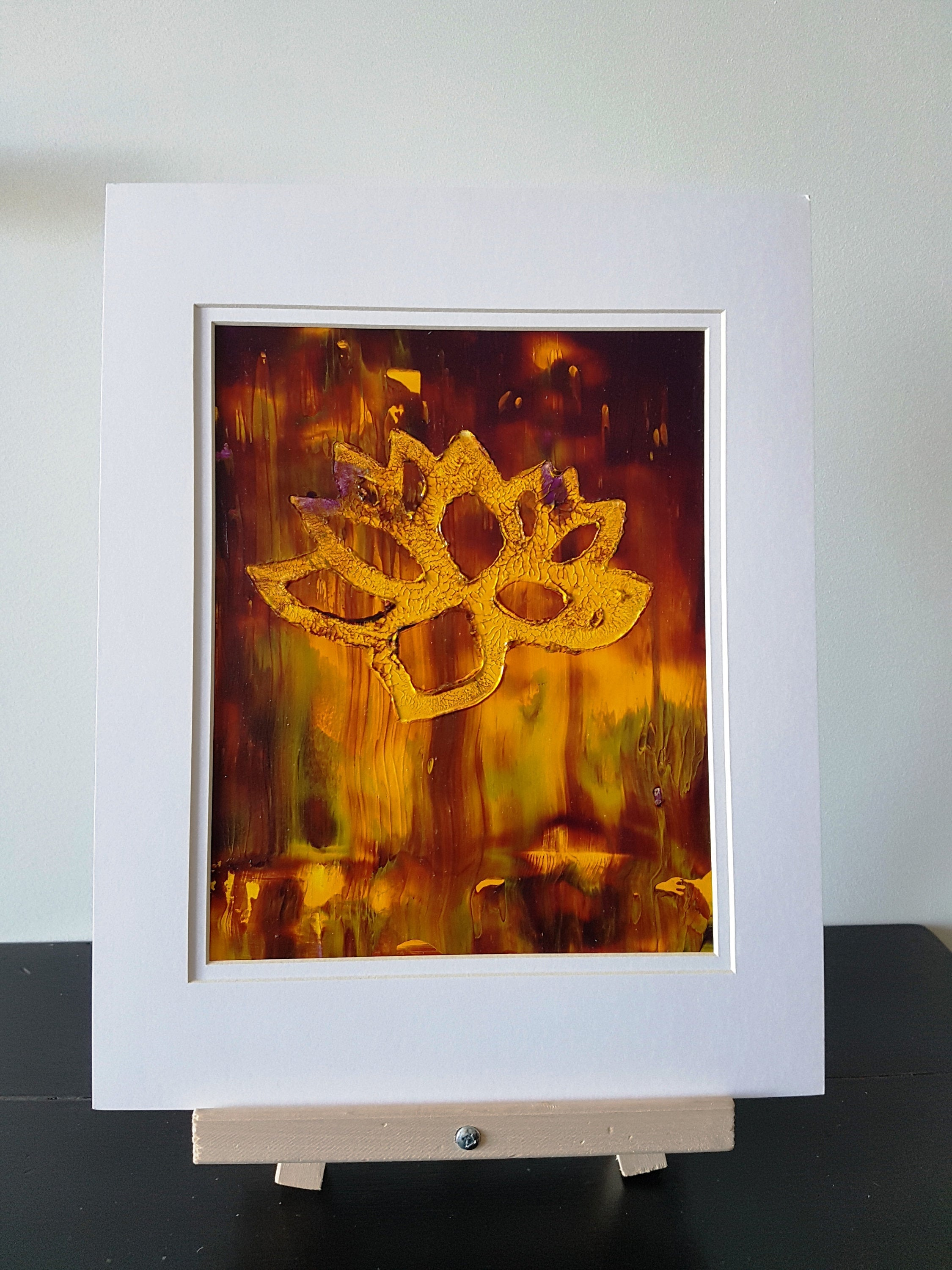 Lotus Flower Abstract Acrylic Painting