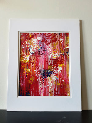 Garden Colors Original Abstract Acrylic Painting