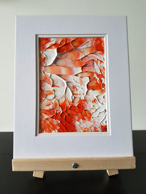 Creamsicle Acrylic Abstract Original Painting