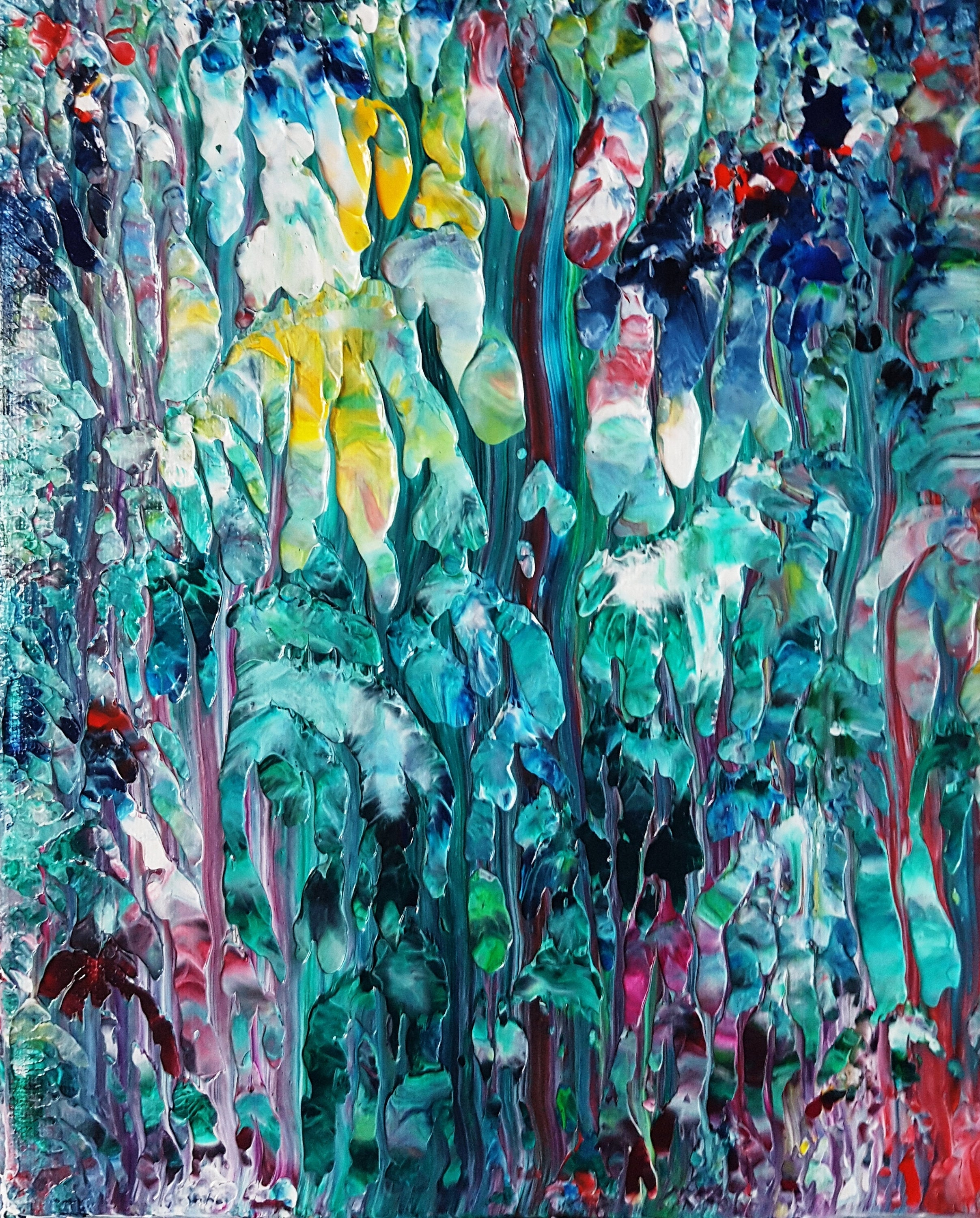 Magic Forest Abstract Acrylic Painting