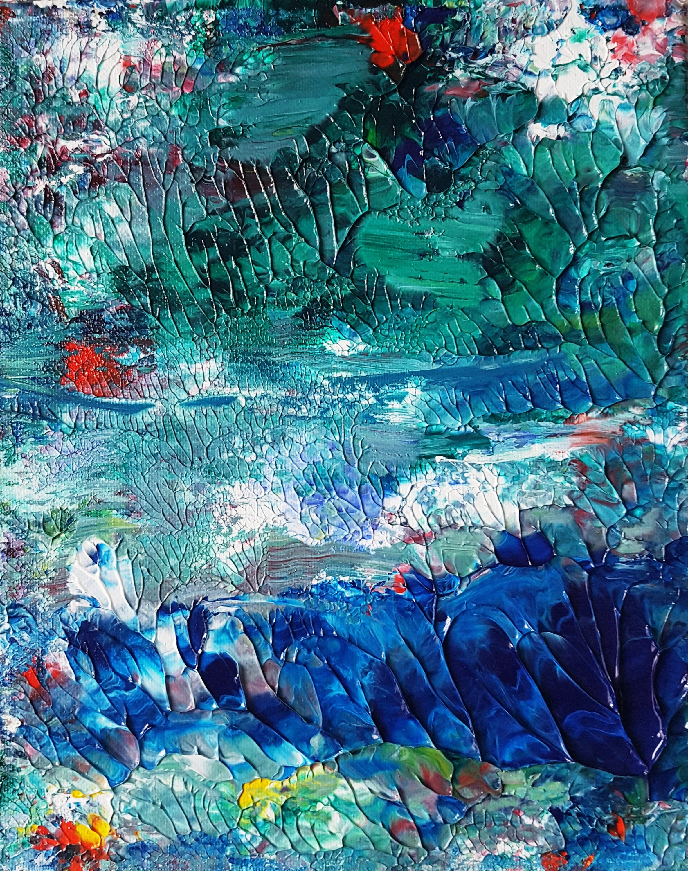 Spirit Lake Acrylic Abstract Painting