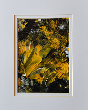 Yellow & Black Original Abstract Acrylic Painting