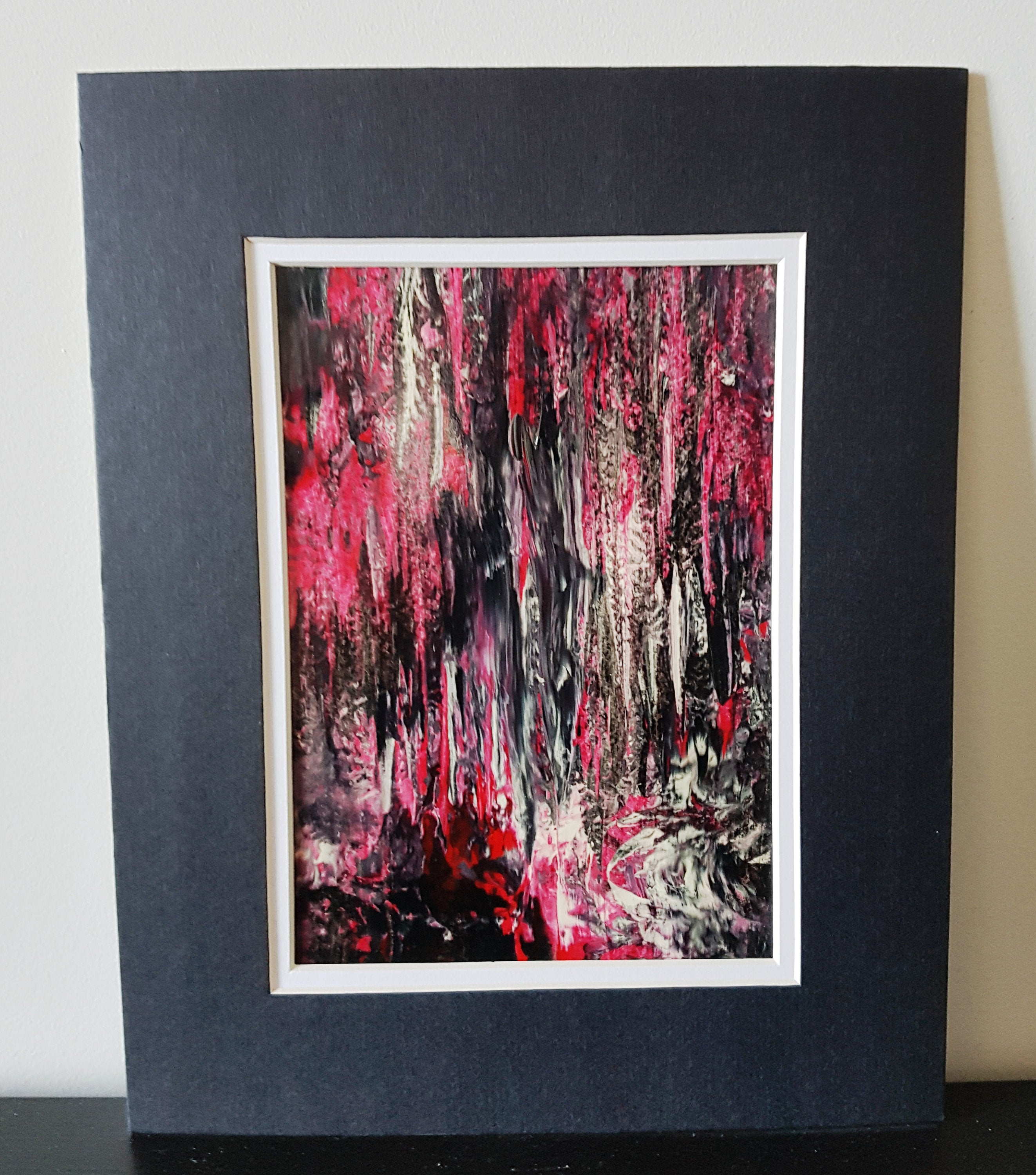 Redwood Forest in Abstract Original Acrylic Painting