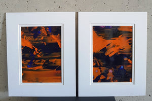 2 Piece Set Wonder Landscape Abstract Acrylic Paintings