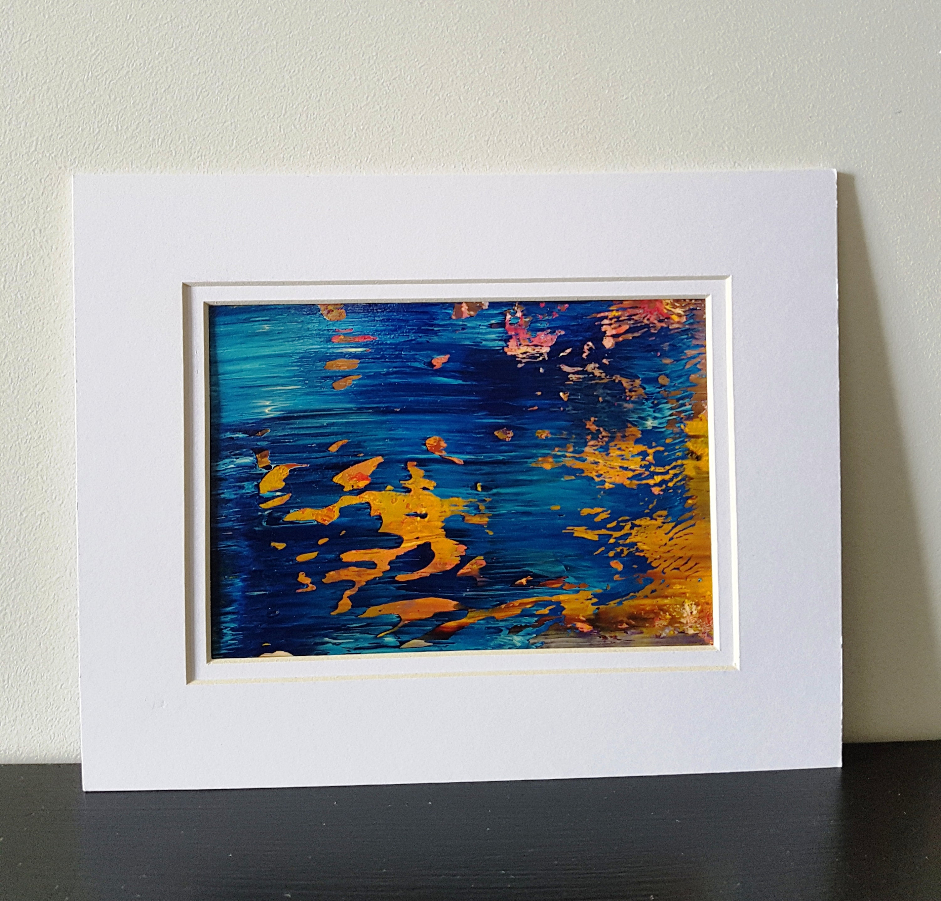Ocean Reflections Abstract Acrylic Painting