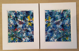2 Painting Set  Blue Sky View Abstract Acrylic Wall Paintings