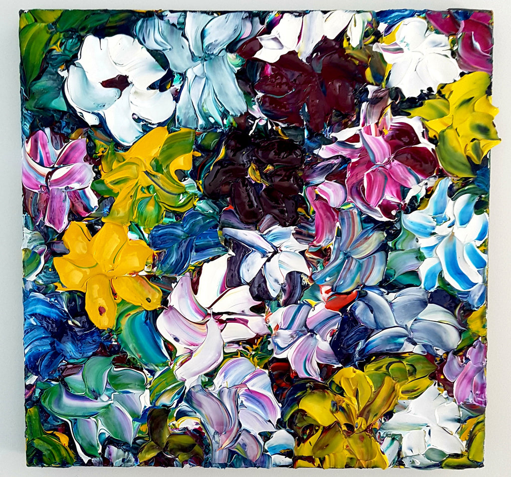 Wildflowers Abstract Acrylic painting