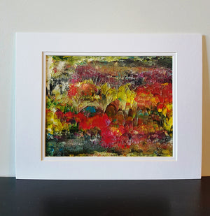 English Garden Acrylic Abstract Painting