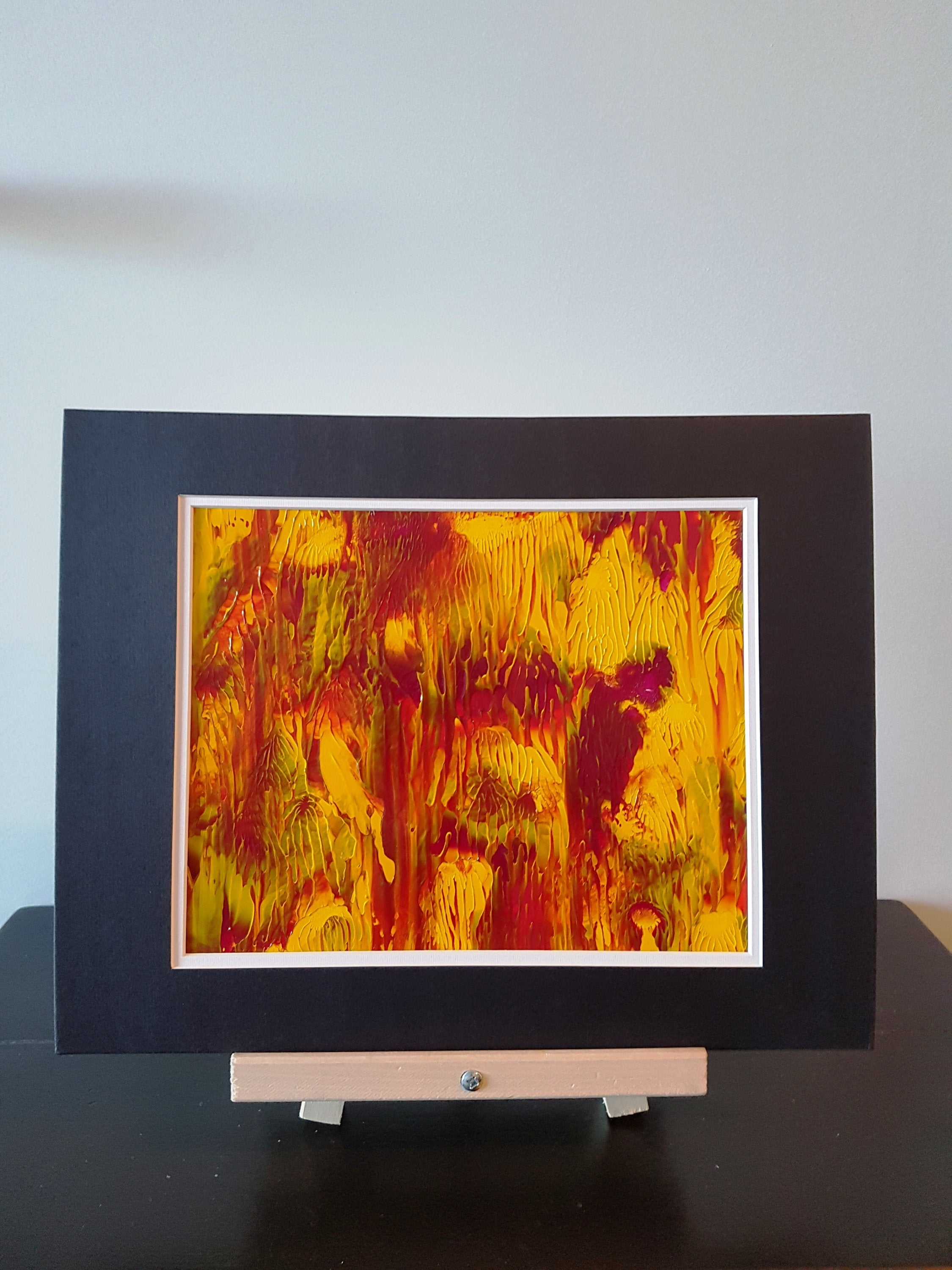 Sunshine Garden Abstract Original Acrylic Painting