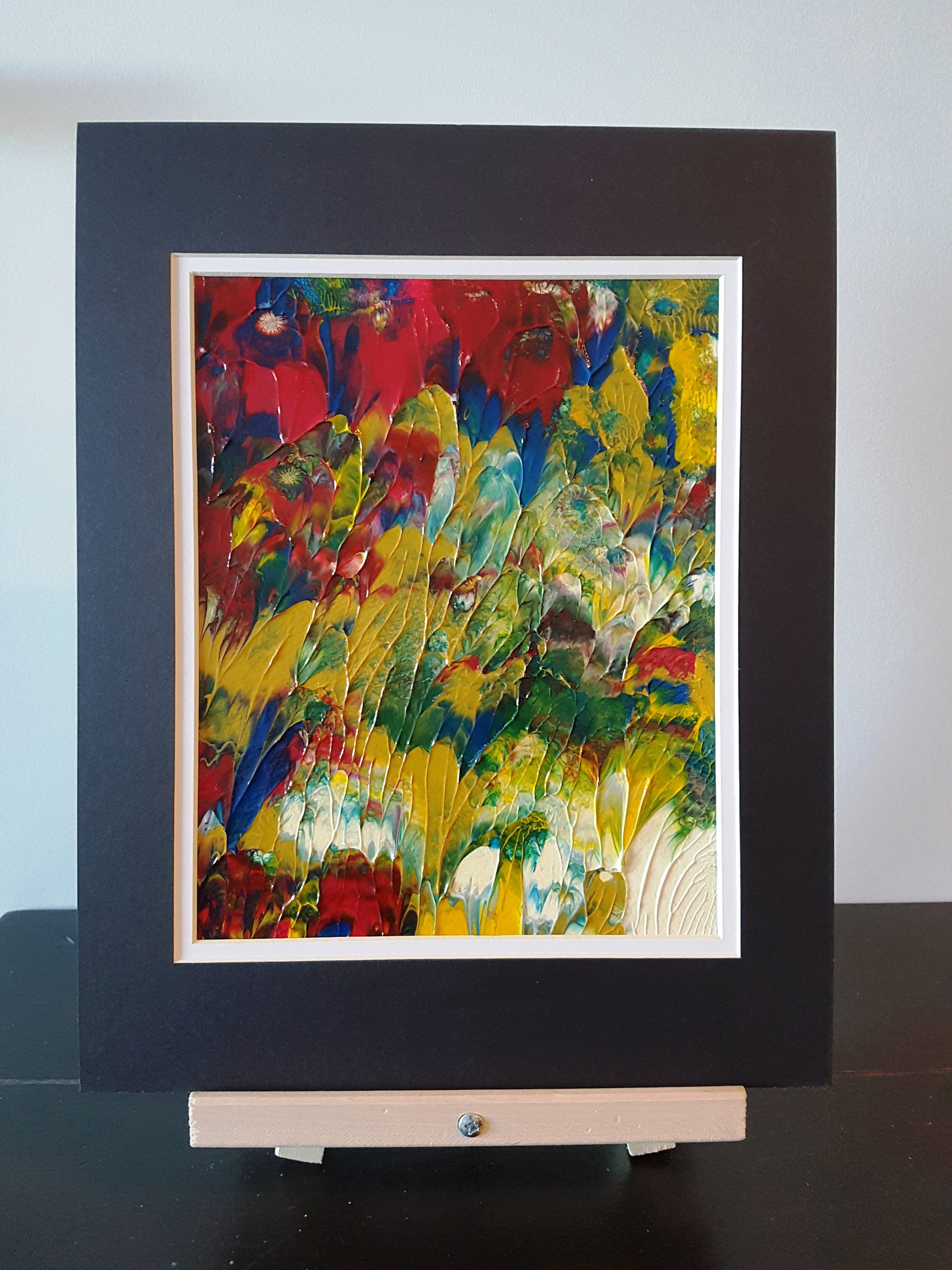 Summer Garden Abstract Acrylic Painting