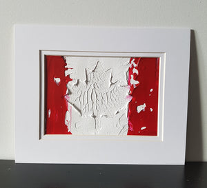 Canadian Flag Abstract Original Painting