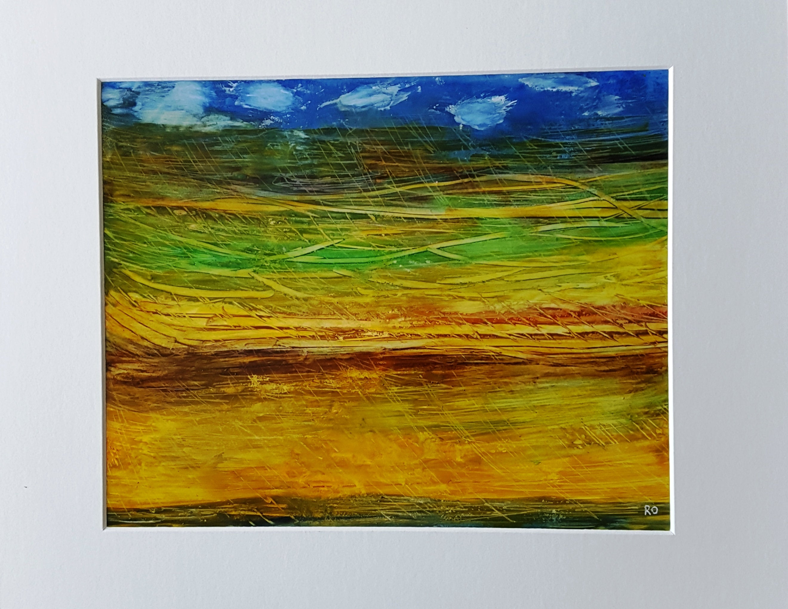 Rural Rain Abstract Watercolor Original Painting