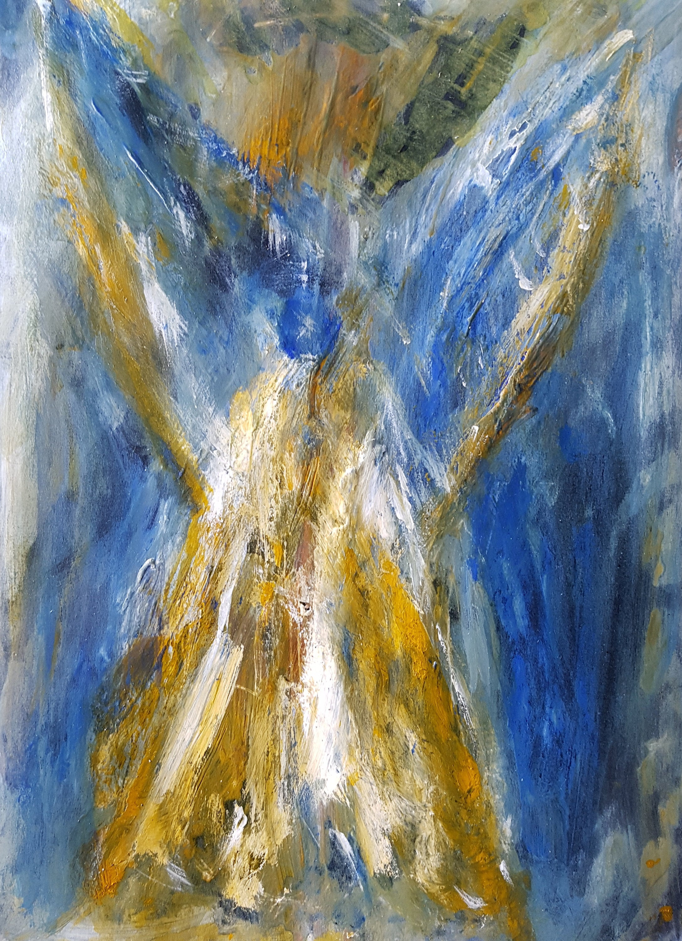 Archangel Ariel Abstract Watercolor Painting