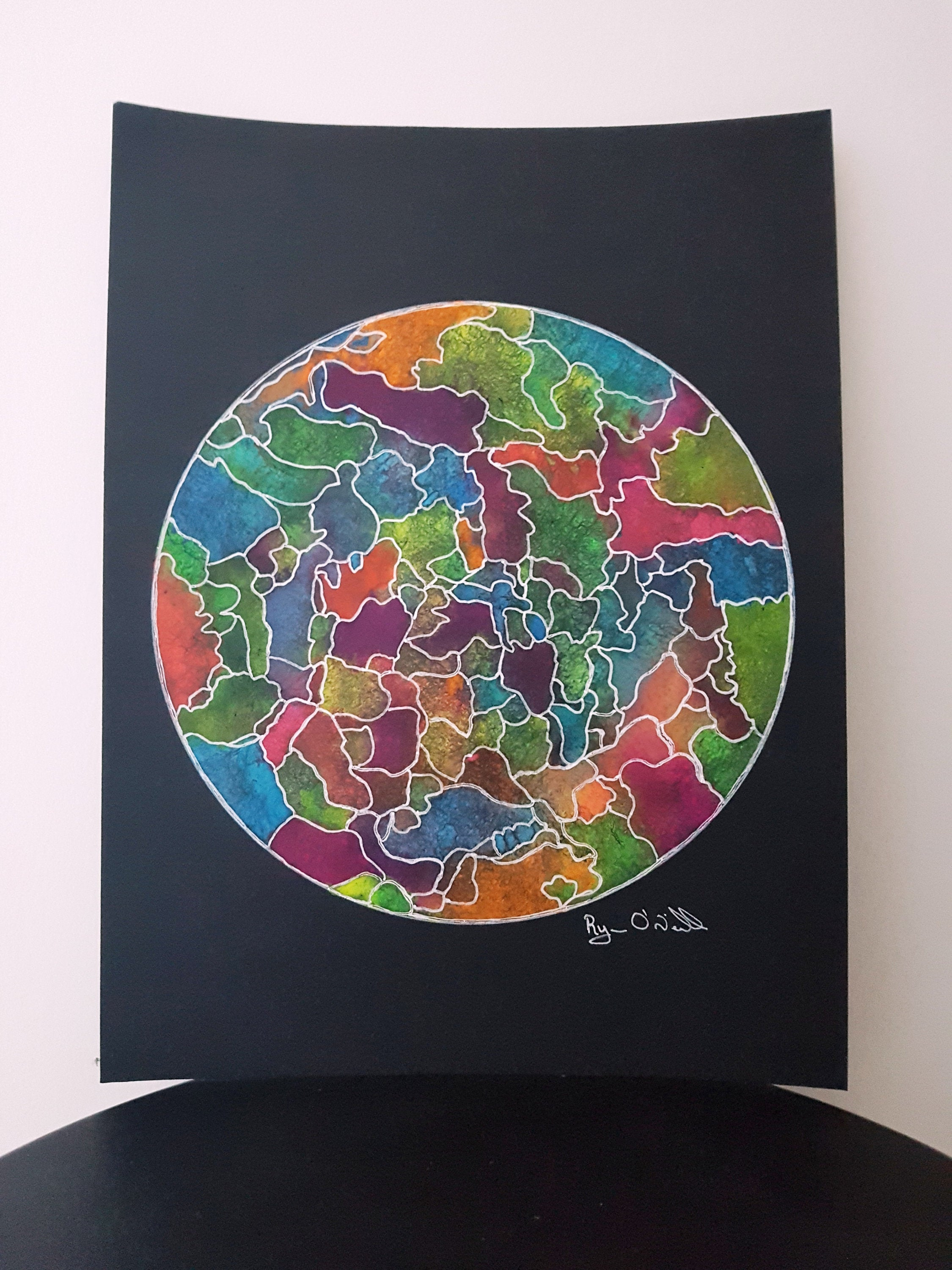 World of Color Original Watercolor Painting