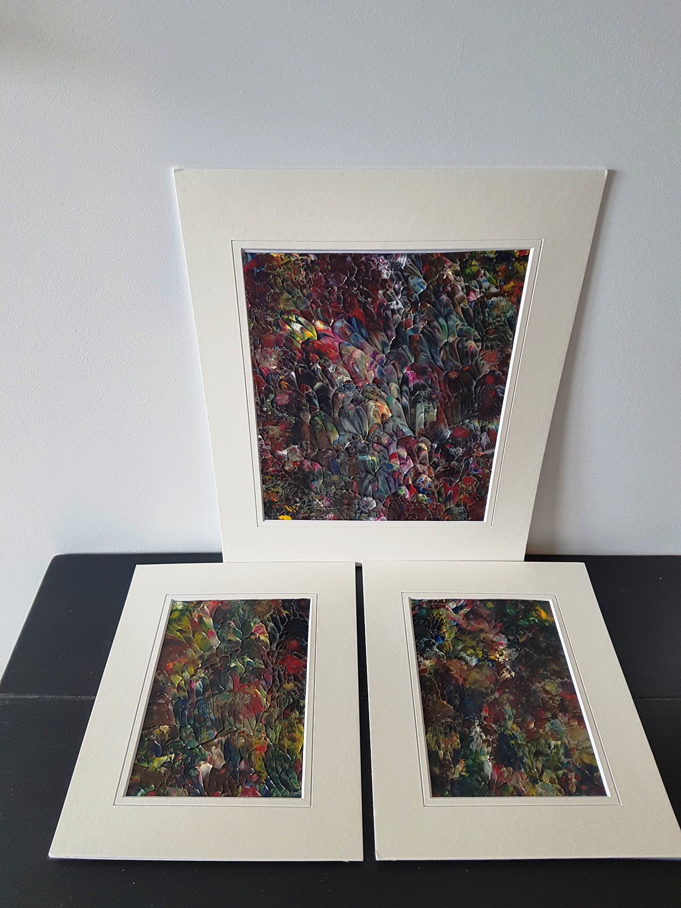Baroque Flower Garden Acrylic 3 Piece Painting Set