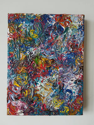 Abstract Swirls Acrylic Canvas