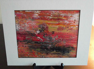 WILD WEST Acrylic Original Abstract Painting.