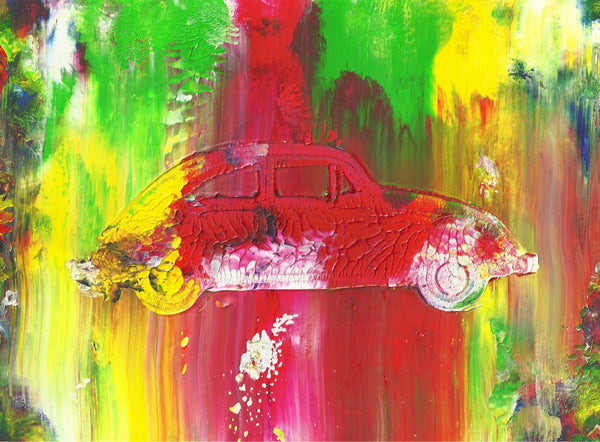 The Beetle Abstract Acrylic Car Painting