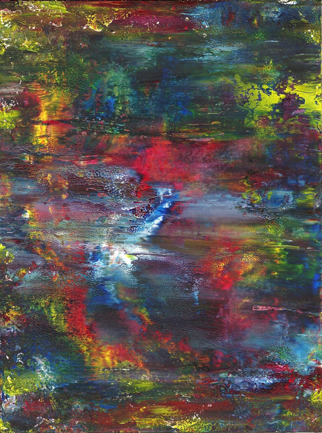 Mist over the Pond Original Acrylic Painting