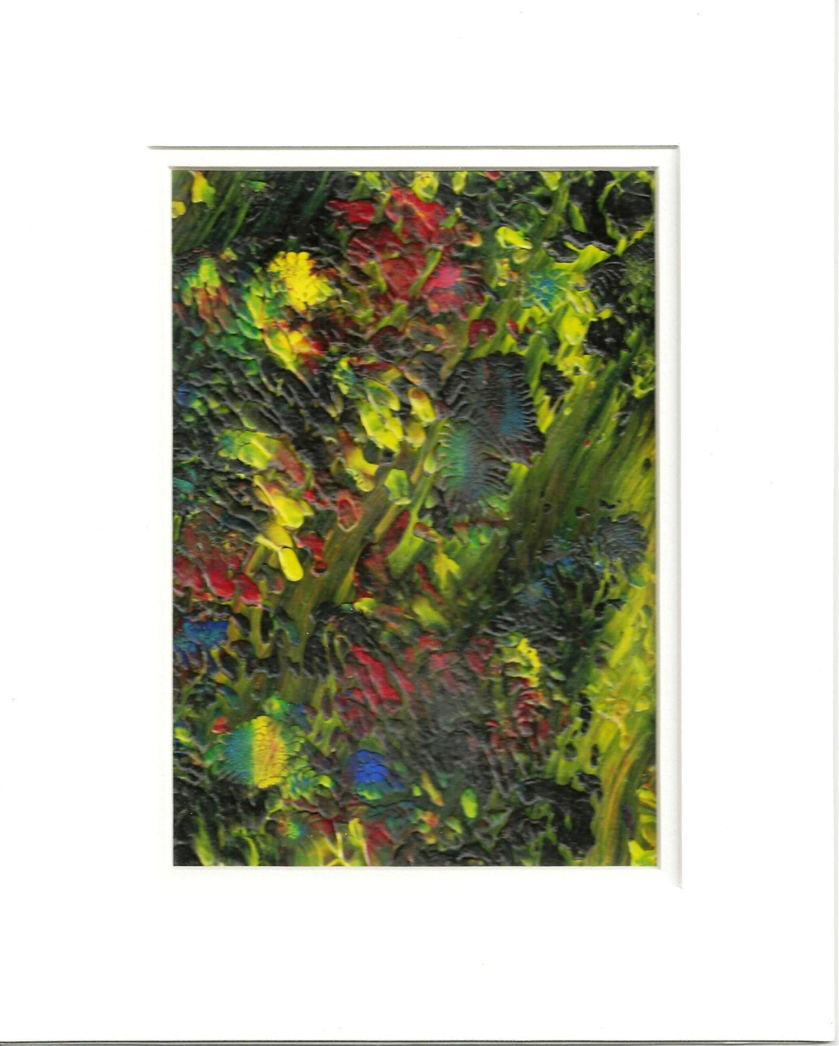 Flowers Hidden in the Forest Original Abstract Acrylic Painting