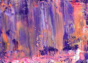 Park View at Night Abstract acrylic Original Painting