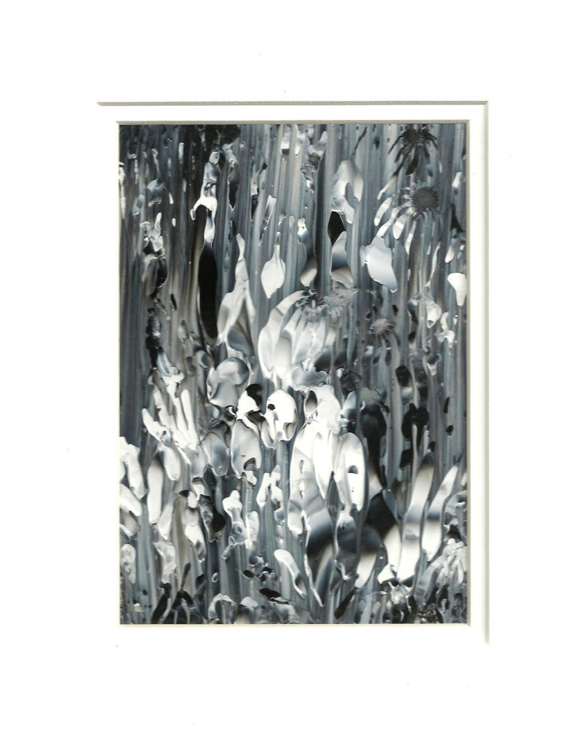 Black and White Acrylic Abstract Original Painting