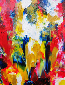 Party Celebration Wall Art Original Abstract Color Acrylic Painting