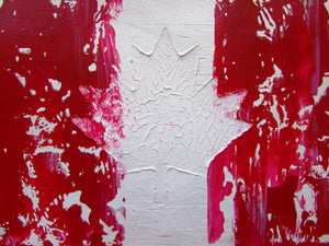 Abstract Canadian Flag original Acrylic Painting by Ryan O'Neill
