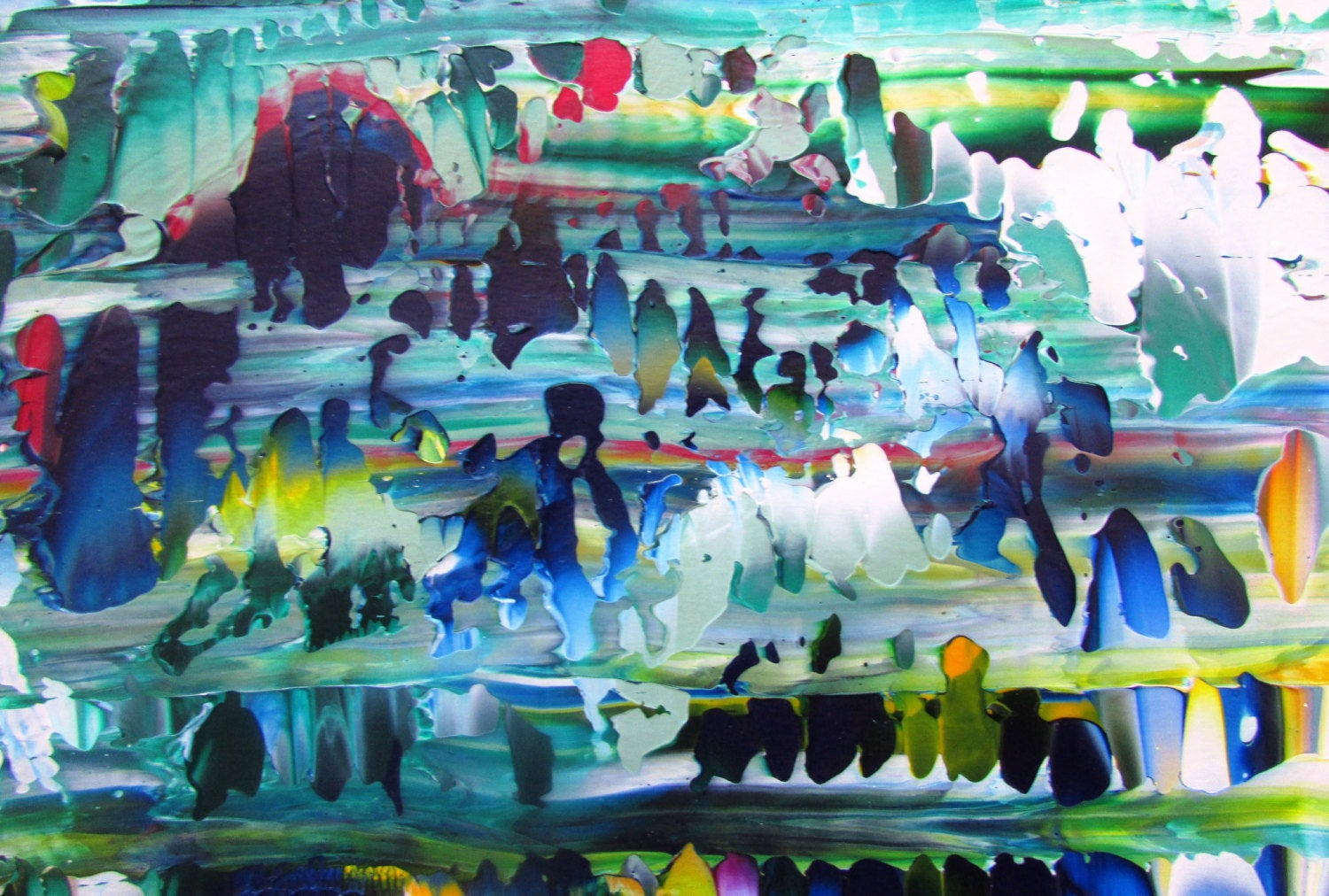 Forest Original Abstract Color Acrylic Painting