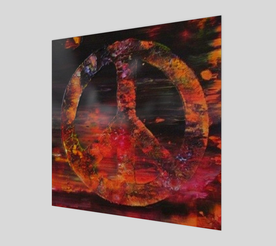 Urban Peace Sign Original Abstract Painting