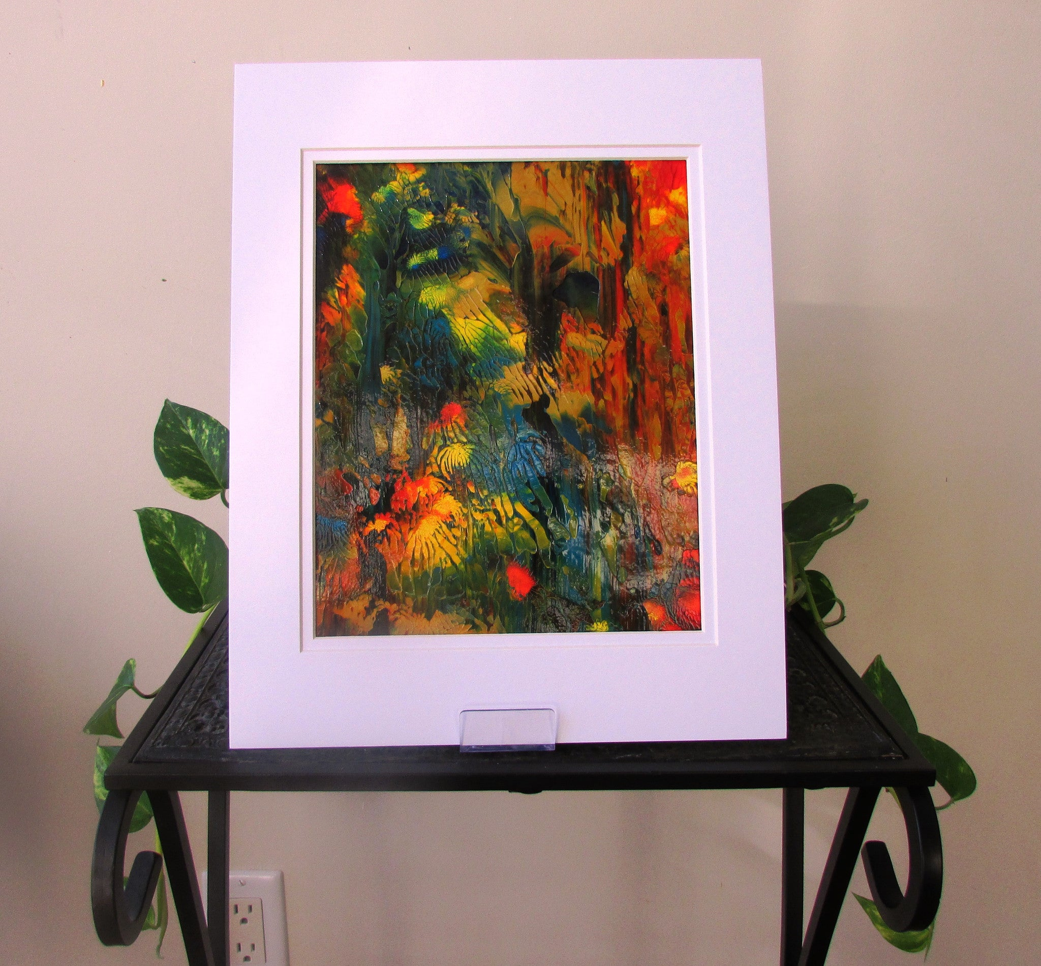 Abstract Sun Shining through the Forest Original Painting