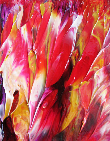Petals in Abstract Acrylic Original Painting by Ryan O'Neill Fine Art in White Mat