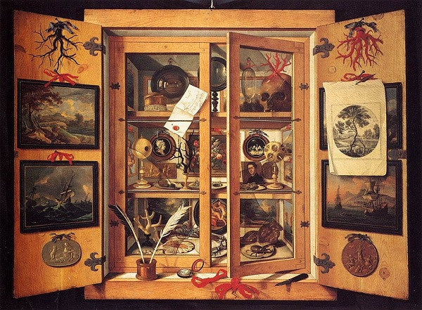 Cabinet of curiosities, painted by Domenico Remps.