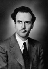 A young Marshall McLuhan, probably pondering postcards.