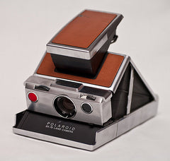 Polaroid SX-70 camera. Photo taken by Thomas Backa, who found it at a flea market.
