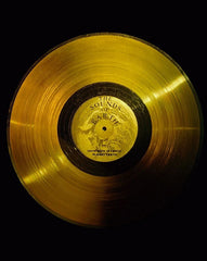 The Voyager Golden Record, godmother of all analog media. It is currently traveling through space. How amazing!