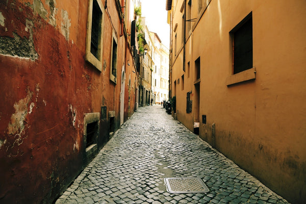 European Alley with Cobblestone street