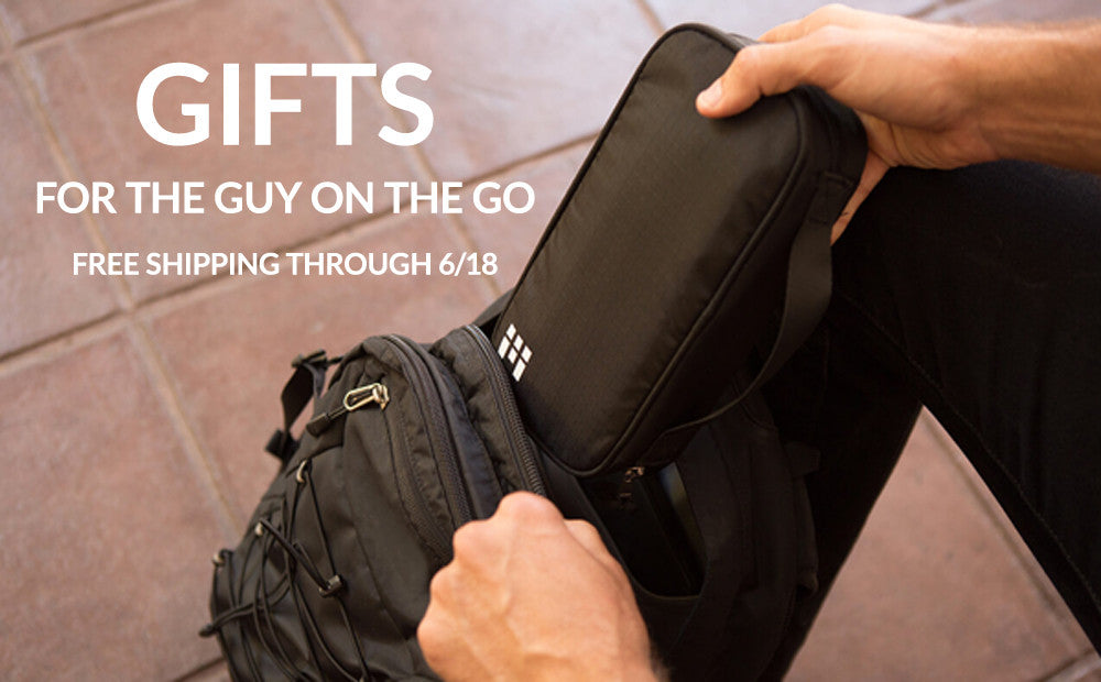 Gifts for the guy on the go: free shipping for Father's Day