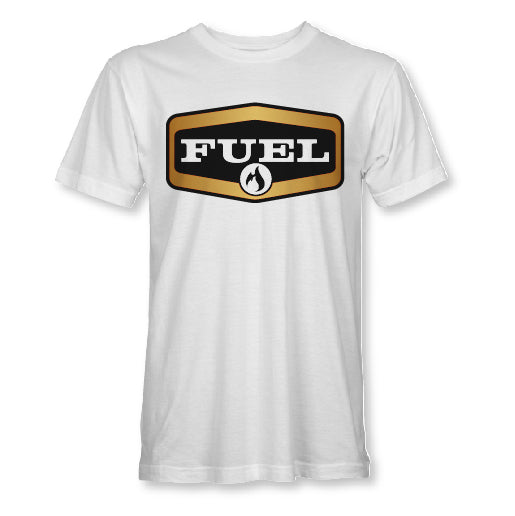 Shield Tee - White/Gold