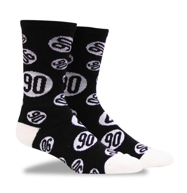 Socks - Kevin Staab - Black 90 Sock - Fuel - Fuel Clothing Company