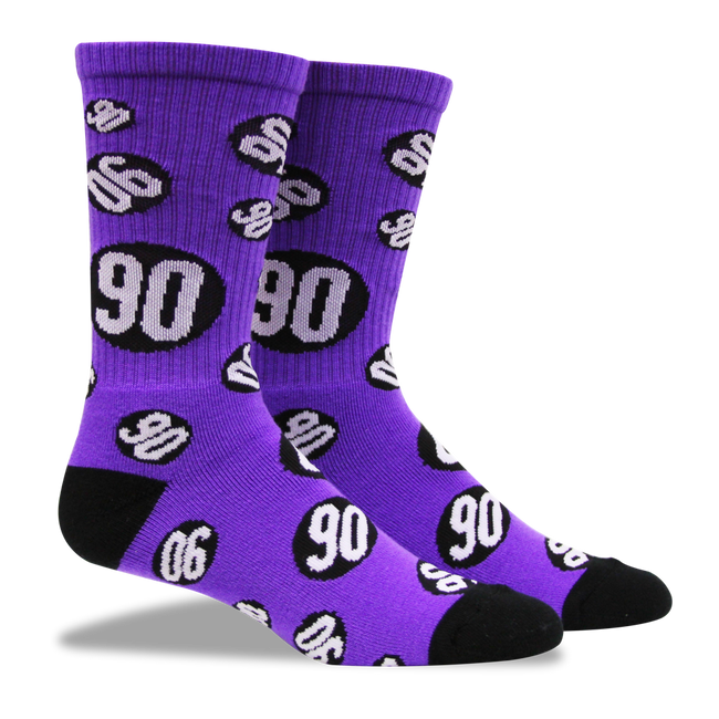Socks - Kevin Staab - Purple 90 Sock - Fuel - Fuel Clothing Company