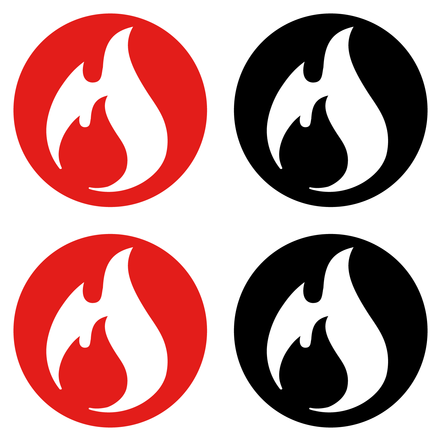 "- 8.5"" Fuel Stickers - 4 Pack - Fuel Clothing Company - Fuel Clothing Company"