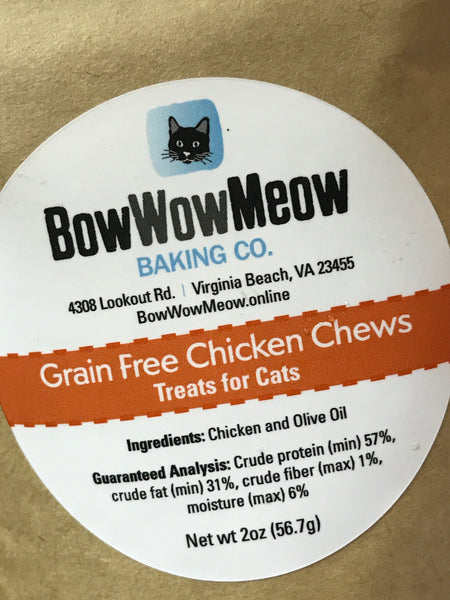 Cat Treats - All Natural Grain Free Chicken Chews
