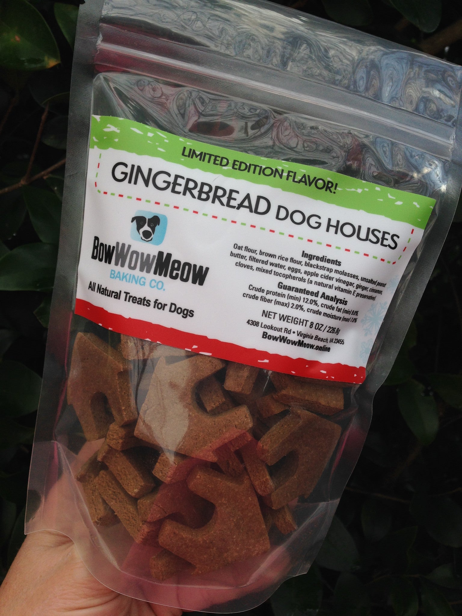 All Natural Gingerbread Dog Treats