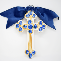 Hallelujah Cross (blue)