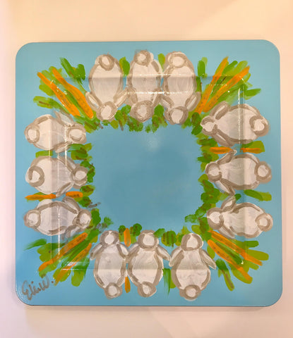 Easter Bunny Tray Set