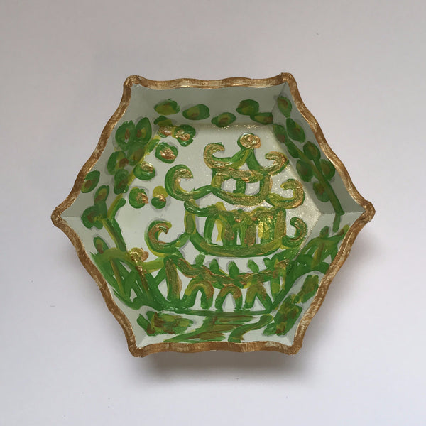 Green Pagoda Trinket Tray