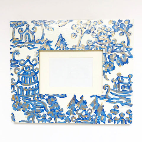 Royal Blue Pagoda Frame