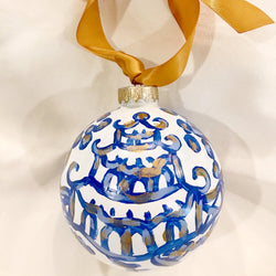 Blue Pagoda Ornament