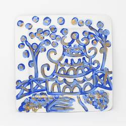 Royal Blue Pagoda Tray